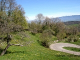Winding road to the Col du Sapenay