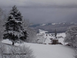 The village in winter time