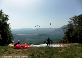 Northern paragliding launching site